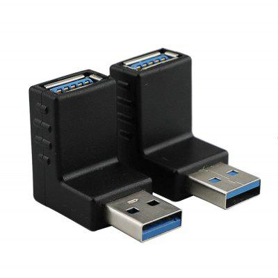 90 Degree Left Right Angled USB 3.0 A Male To Female Adapter Connector