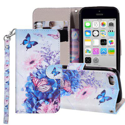 Cover for Iphone 5 / 5S / SE Luxury 3D Painted Flip Wallet Phone Case