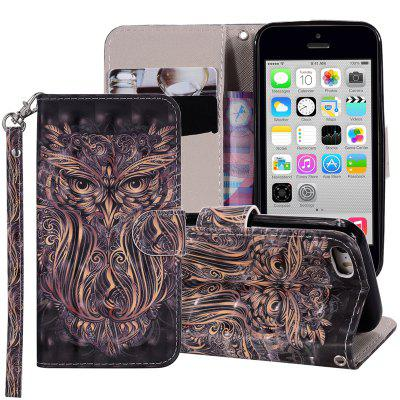 Cover for Iphone 5C Luxury 3D Painted Flip Wallet Phone Case