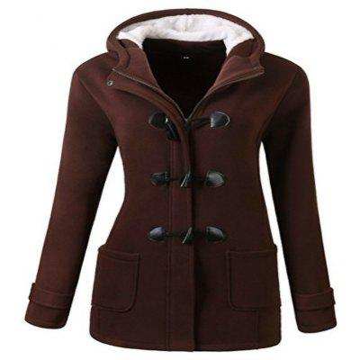 Hooded Cap Wool Blend Coat Jacket Cotton Padded Clothes