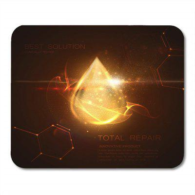 Non Slip Rubber Square Fire  Anti-Water Gaming Cool Mouse Pad