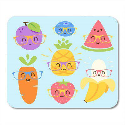 Non Slip Rubber Square Fruit Collection Anti-Water Gaming Cool Mouse Pad