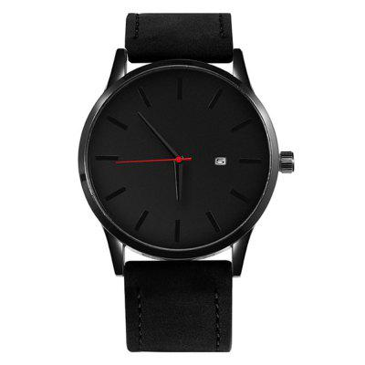 New Men'S Watches Fashion Leather Quartz Watch Men Casual Sports Watch