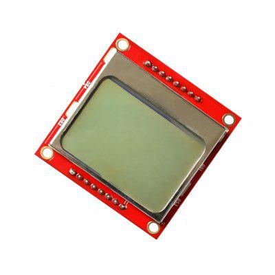 Nokia 5110 LCD Red Screen LCD Module Red PCB Has Been Welded Pin Row