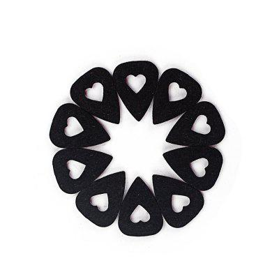 Ukulele Pick 10PCS Black Wool Felt Guitar Picks Plectrums