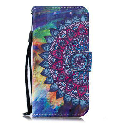 for MOTO E5  PU Wallet Protective Case 3D Painted Leather Case