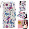 Magnetic Flip Case for Huawei P20 Full Painted Leather Stand Wallet Phone Cover - MULTI-D
