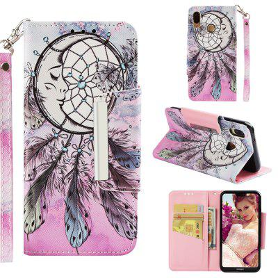 Magnetic Folio PU Leather Flip Wallet Case For Huawei P20 Lite Card Holder Cover