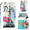 PU Leather Flip Wallet Case For Huawei Y9 2018 Full Painted Magnetic Cover - MULTI-J
