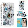 Flip Magnetic Phone Case For Samsung Galaxy J8 2018 Painted Leather Wallet Cover - MULTI-C