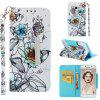 Full Painted Leather Case For Samsung Galaxy A5 2017 Magnetic Stand Wallet Cover - MULTI-C
