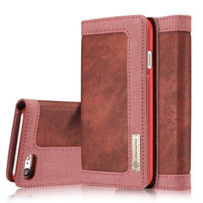 Cowboy Canvas Cell Phone Leather Case Flip Cover Stent for iPhone 6S