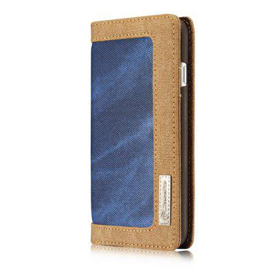 Cowboy Canvas Cell Phone Leather Case Flip Cover Stent for iPhone 7
