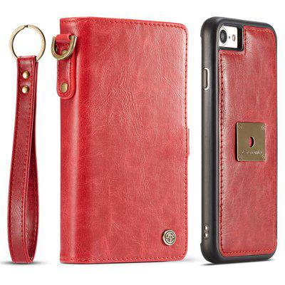 String Splitter Magnet Purse Flip Phone Leather Cover for iPhone 6S Plus