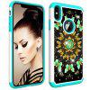 For IPhone Xs Max Painting + Drill Two-In-One Protection Set - MULTI-E