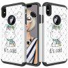 For IPhone Xs Max Painting + Drill Two-In-One Protection Set - MULTI-F