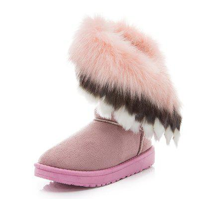 Fluffy Cotton Comfortable Winter Snow Boots Womens Boots