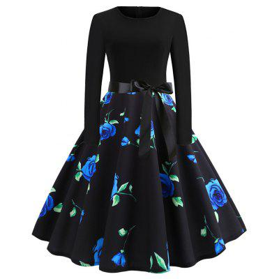 A Dress with Blue Roses on It