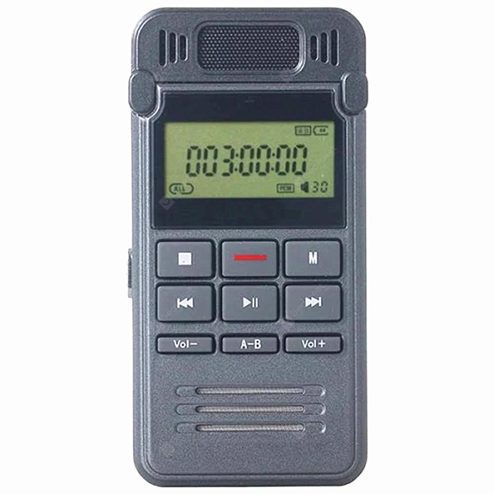 The New Professional Digital Voice Recorder Hd Audio SK - 999 - SLATE GRAY 1+8GB