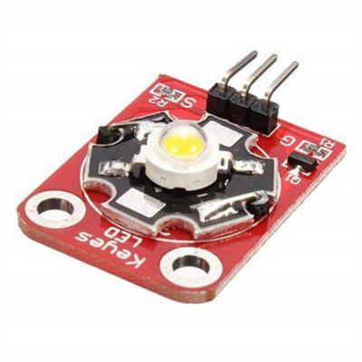 3W High-Power KEYES LED Module with PCB Chassis for Arduino STM32 AVR
