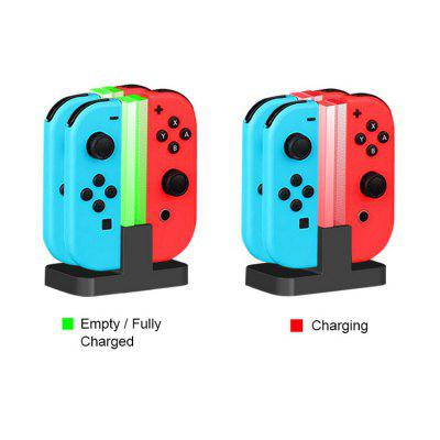 4 In 1 LED Charging Dock Station For Nintendo Switch 4 Joy Con Controllers