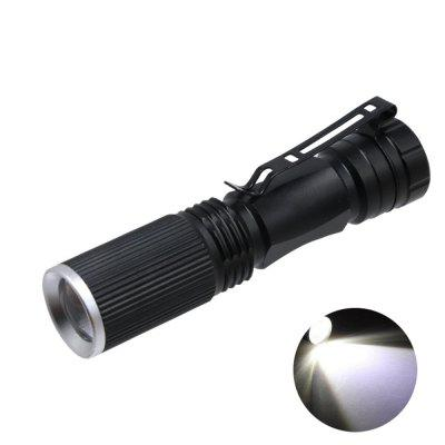 Mini Led Flashlight Q5 LED Telescopic Zoomable By Battery Torch Lamp Lighting