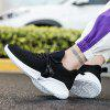 Shoes Men Hiking Mesh Running Rubber Lace Up Sneakers - BLACK