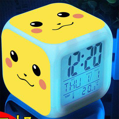 Cute Digital Multifunctional Alarm Clock with Glowing Led Lights