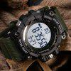SANDA 30M Waterproof Electronic Watch for Men Sports Watch - ARMY GREEN