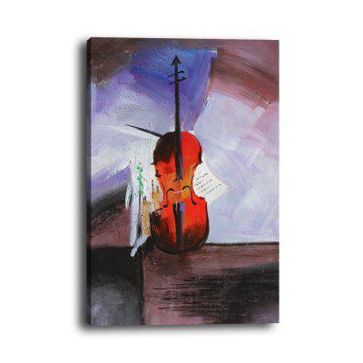 Simple Still Life Violin With Frame Canvas Living Room Wall Hanging Painting