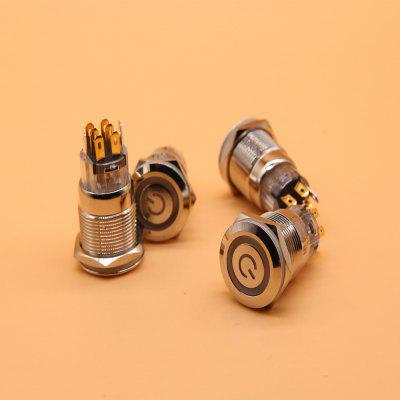 2 PC 19mm dimmer switch Round Waterproof Metal Push Button Switch Momentary