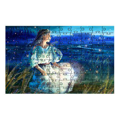 Planet Moon Girl Jigsaw Puzzle