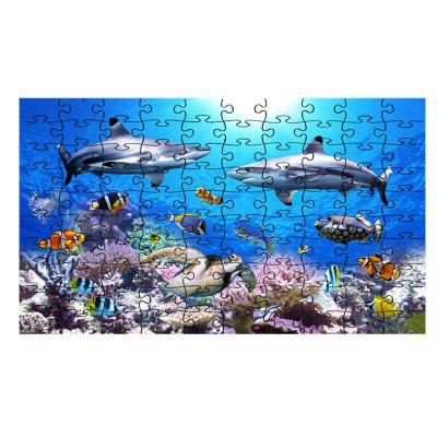 Puzzle Sea World Coral and Dolphins