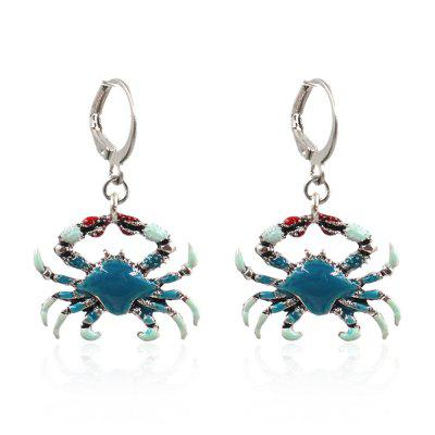 New Fashion Dripping Multicolor Crab Earrings Popular Jewelry