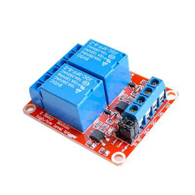 2 Channel Isolated Optocoupler High/Low Level Trigger Relay Module