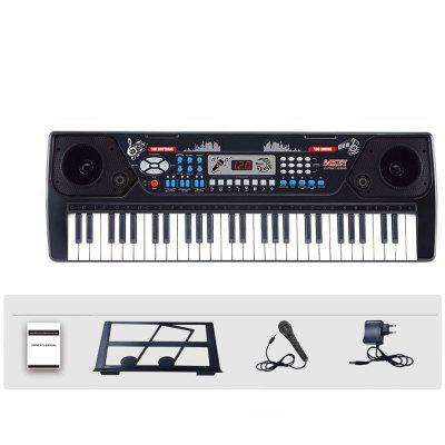 54 Keys Electronic Keyboard Piano with Adapter Mic Music-Stand LCD