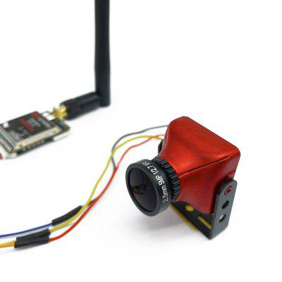 5.8G Transmitter for FPV Racer drone and FPV CCD Camera 800TVL 2.1mm Red Lens