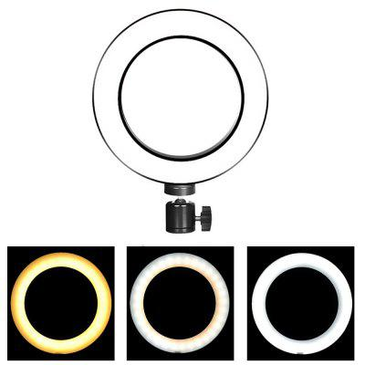 20CM Live Fill Light Three Color Dimmable USB Interface Without Bracket