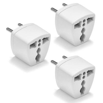 Minismile 3PCS US/UK/EU/AU to EU Plug Socket Charger AC Travel Power Adapter