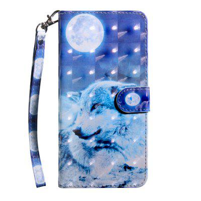3D Color Painting Flip Wallet Telefoon Cove voor Huawei P Smart + / P Smart Plus Case