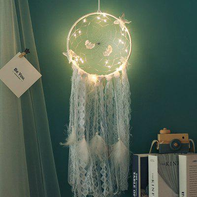 DIY  lamp Feather  Wind Chimes Bedroom Romantic Hanging Decoration Gift