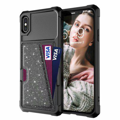 Wallet Card Holder case Leather Glitter Luxury Cover for iPhone X / XS