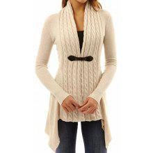 0956c04d17 Autumn Winter Long Sleeves Women Cardigan Twist Knitted Sweater Jacket Coat