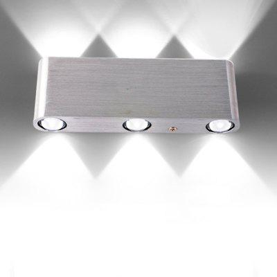 6W Indoor Lighting LED Wall Lamp AC 110 - 240V