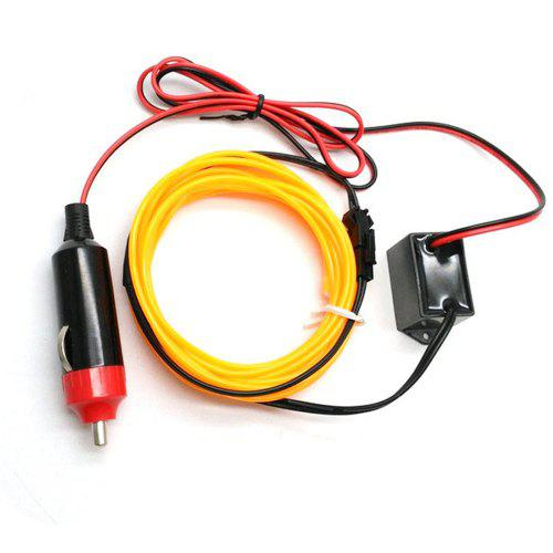 5 ft Flexible EL Wire Neon YELLOW LED Light Rope for Car decorative Party Lights