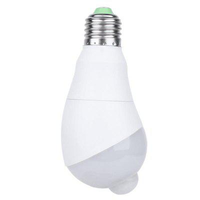 E27 5W Rotate Infrared Motion Sensor LED Lamp Bulb