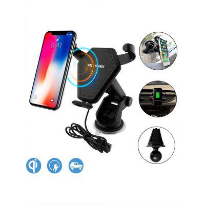 Car Fast Wireless Charger for iPhone/For Samsung