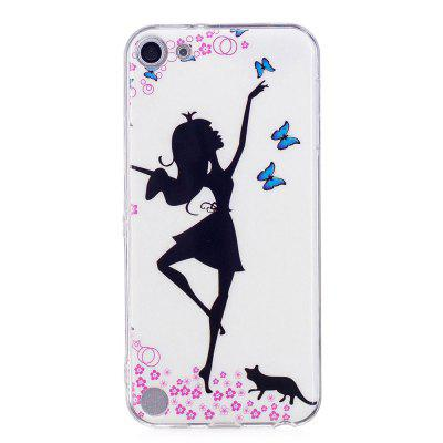 Dancing Girl Luminous Phone Case for iPod Touch 5/6