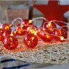 Led Lights String Big Red Christmas Lights String Ball Decorative Lights - RED