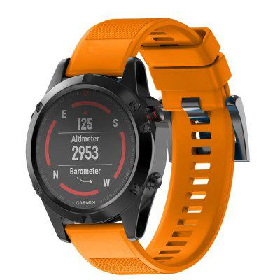 22MM Quick Release Sport Silicone Watch Band Strap + Tool For Garmin Fenix 5
